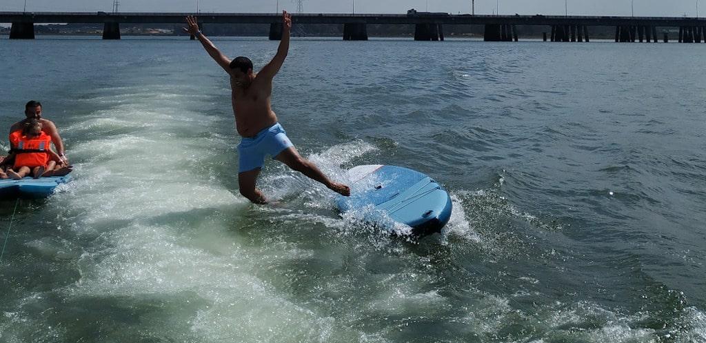 paddle surf al agua