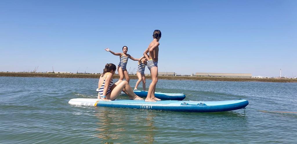 paddle surf encima